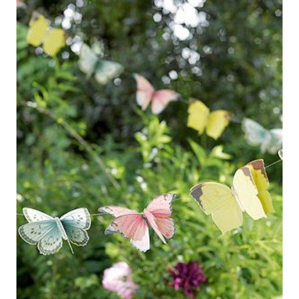 3D Truly Fairy Schmetterlinge Girlande -4552