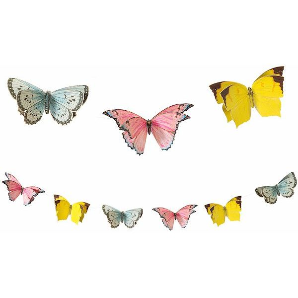 3D Truly Fairy Schmetterlinge Girlande -0