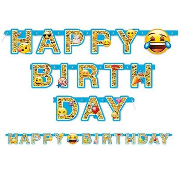 Emoji Happy Birthday Banner-0