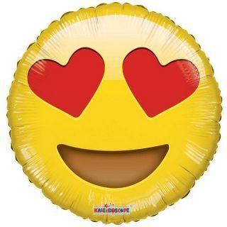Emoji Liebe Folienballon 45 cm -0