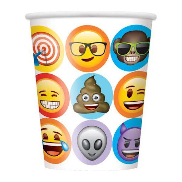 8 Emoji Pappbecher-0