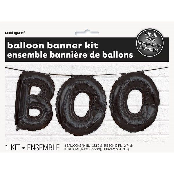 Boo Halloween Ballon-Girlande-4831