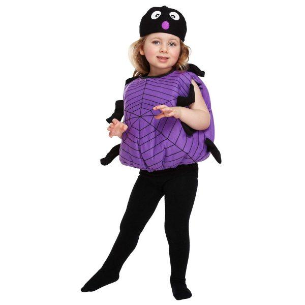 Lustige Halloween Spinne Kostüm für Kinder bis 3 Jahre -0