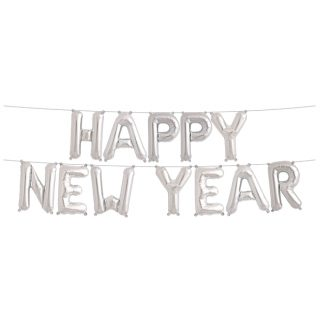 Happy New Year Ballon-Banner Silvester Neu Jahr Party-0