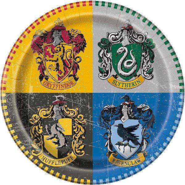8 Harry Potter Hogwarts Pappteller-0