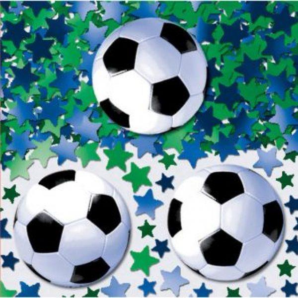 Fussball Konfetti mit Sternen-0