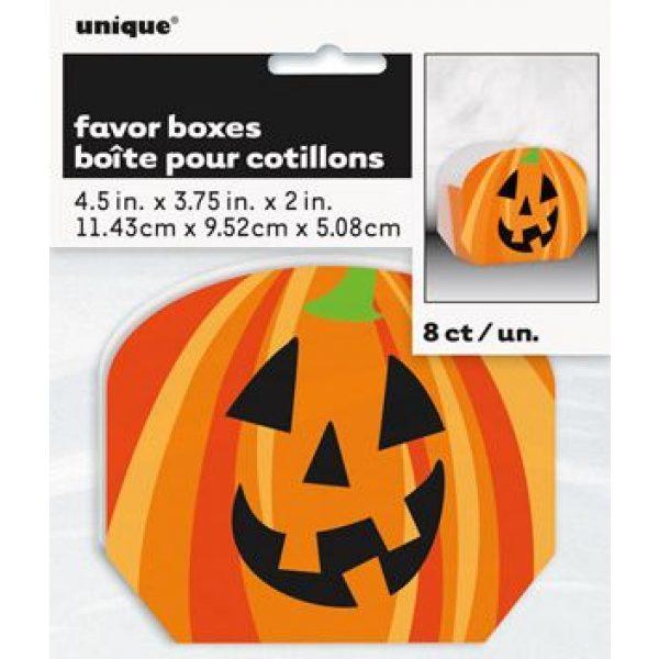 8 Halloween Pumpkin Kürbis Geschenkboxen-4840