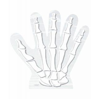 10 Skelett-Hand Cellophan Partytüten für Süßigkeiten-0