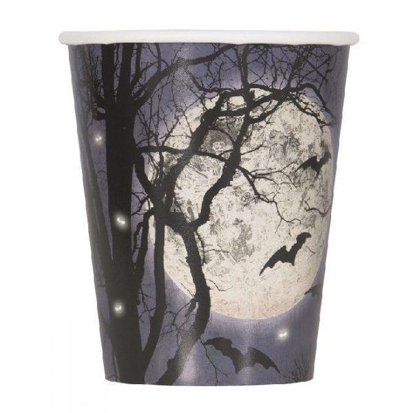 8 Spooky Nights Halloween Pappbecher 266 ml-0