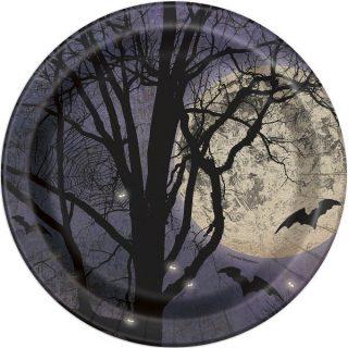 8 Spooky Nights Halloween Pappteller 23 cm-0