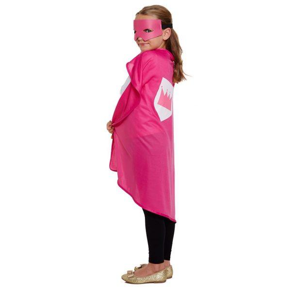 Superheld Kostüm Pink für Kinder-0