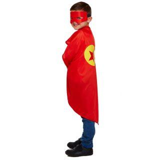 Superheld Kostüm Rot für Kinder-0