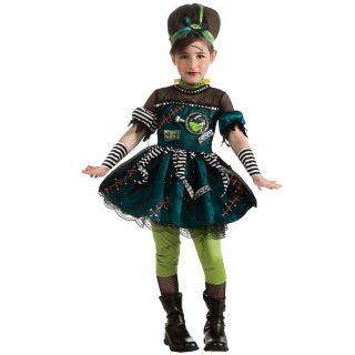 5 tlg. Frankenstein Girl Kostüm Gr M, 5-7 Jahre-0