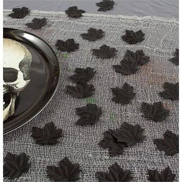 Schwarze lose Blätter Tischdekoration-0