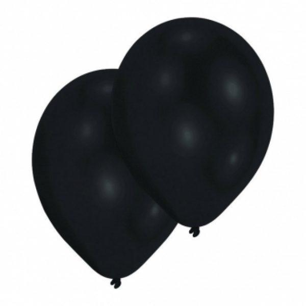 10 Pearl Schwarz Latex Ballons 28 cm-0