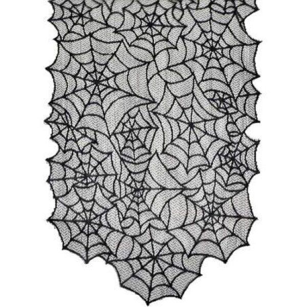 Spinnweben Tischläufer aus Spitze 2m -0