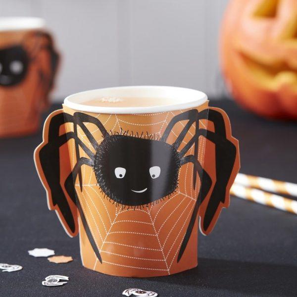 8 Spooky Spider 3D Spinnen Pappbecher 265 ml-0