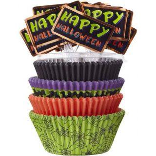 150 Muffinformen & 25 Happy Halloween Picker -0