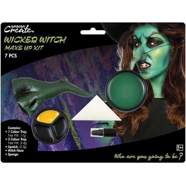 Halloween Hexe Schminkset mit Nase-0