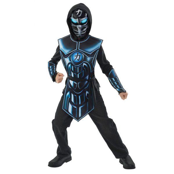 Ninja Elektronisches Kostüm mit Light & Sound Effekten für Kinder Gr L 10-12 Jahre-0