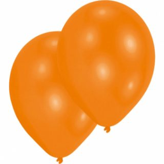 10 Orange Latex Ballons 28 cm-0