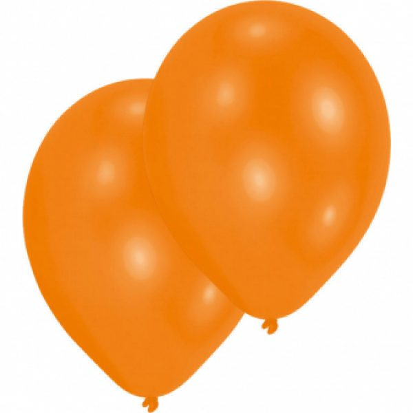 10 Orange Latex Ballons 28 cm-0