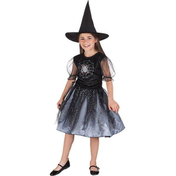 Spinnen Hexe Kostüm Kind 4-6 Jahre-0