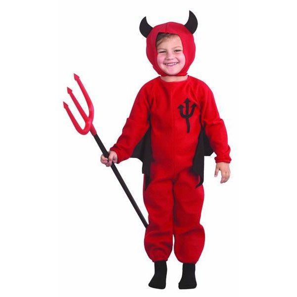 Kleiner Teufel Kostüm für Kinder bis 3 Jahre -0
