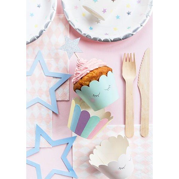 6 Make a Wish Einhorn Party Cupcake Wrapper-0