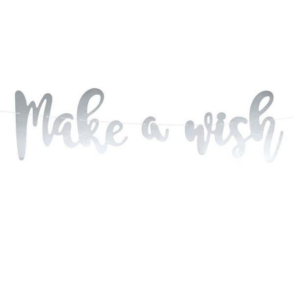 Make a Wish Banner Silberfolie Girlande-5265