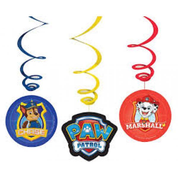 6 Paw Patrol Spirale Hängedekorationen -0