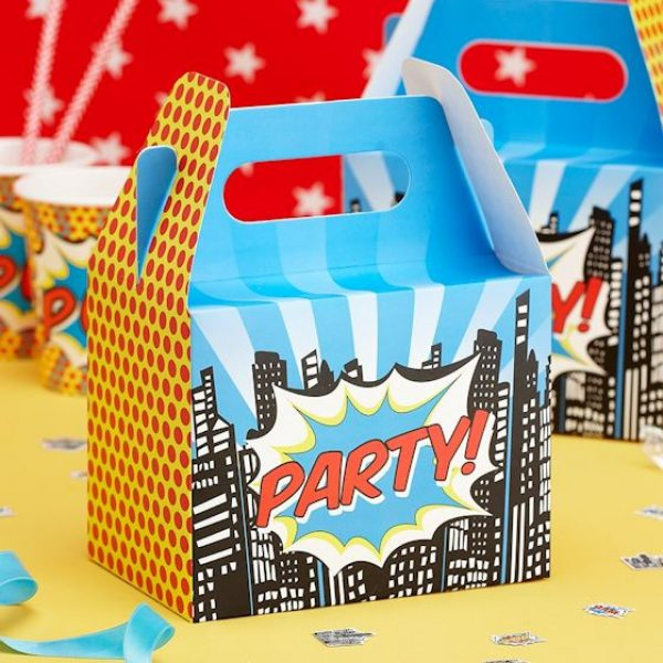 5 Party Boxen Pop-Art Superhero Party-0