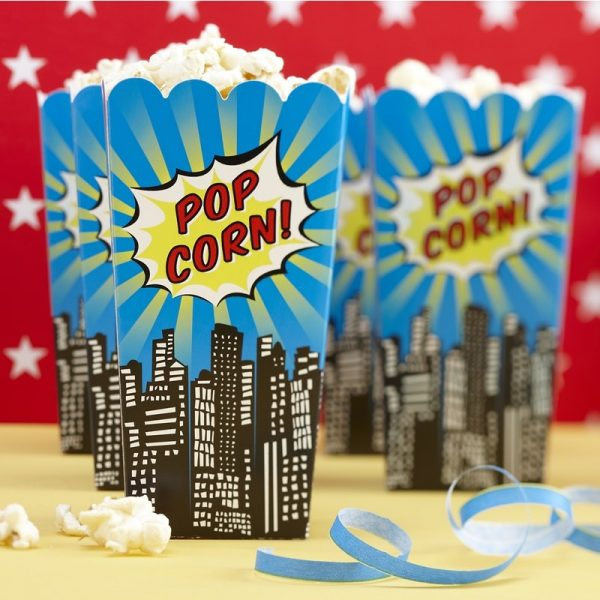 8 Popcorn Boxen Pop-Art Superhero Party-0
