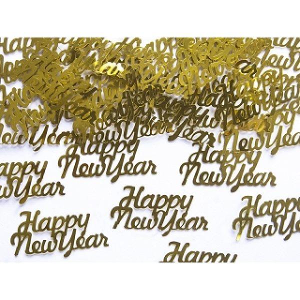 Happy New Year Gold Konfetti 3 g-0