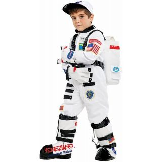 Deluxe Astronauten Kostüm mit Zubehör Kinder Large 9 Jahre -0