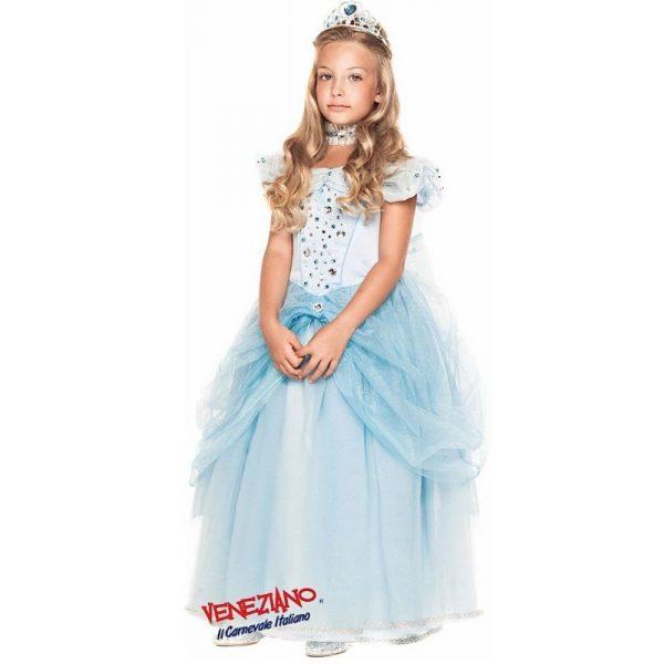 Deluxe Cinderella Prinzessin Party Kleid mit Zubehör Kind 8 Jahre-0