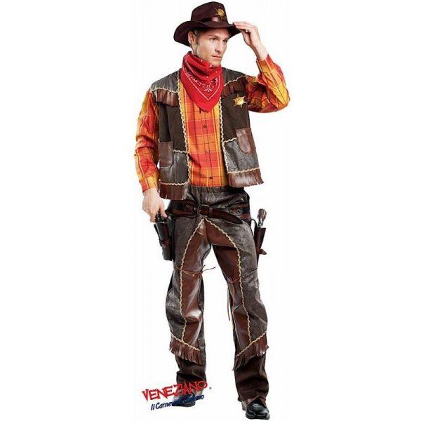 Deluxe Cowboy Kostüm Inkl. Zubehör Herren Large -0