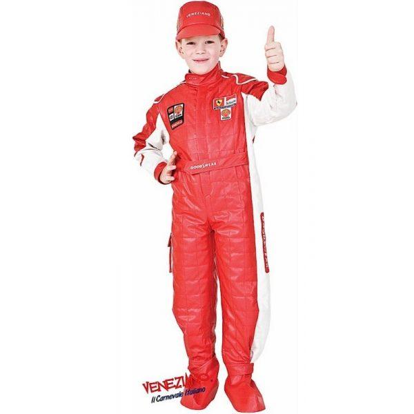 Deluxe F1 Pilot Kostüm mit Zubehör Kind 8 Jahre -0