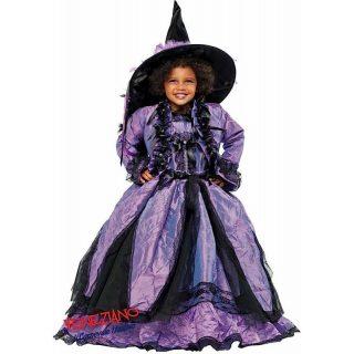 Deluxe Lila Hexe Kostüm mit Jacke & Hexenhut Kinder Medium 8 Jahre -0
