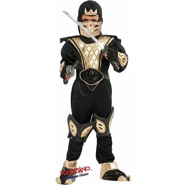 Deluxe Ninja Kostüm mit Zubehör Kinder Medium 8 Jahre -0