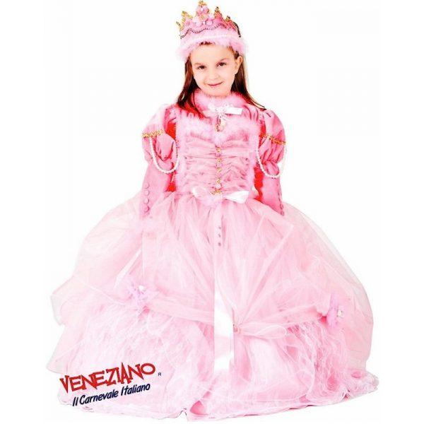 Deluxe Tüll-Prinzessin Pink Party Kleid mit Zubehör Kind 8 Jahre-0