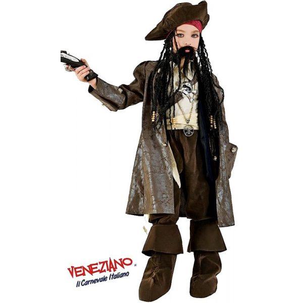 Deluxe Captain Jack Kostüm Inkl. Zubehör Kind Small 7 Jahre -0