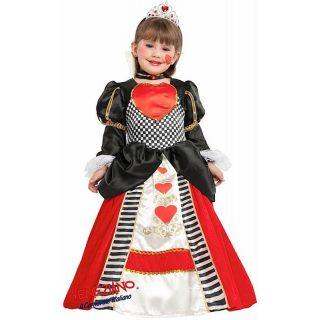 Deluxe Herz Königin Kostüm mit Zubehör Kinder 6 Jahre -0