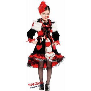Deluxe Herz Königin Kostüm mit Zubehör Kind Large 9 Jahre -0
