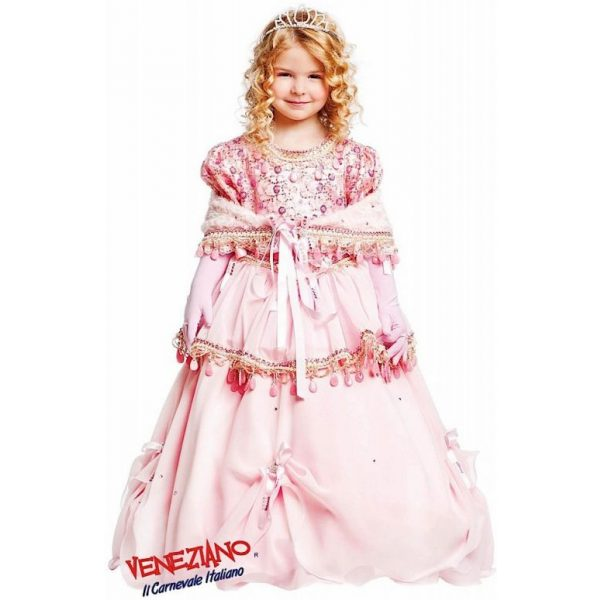 Prestige Prinzessin Party Kleid Rosa Kind Small 7 Jahre-0