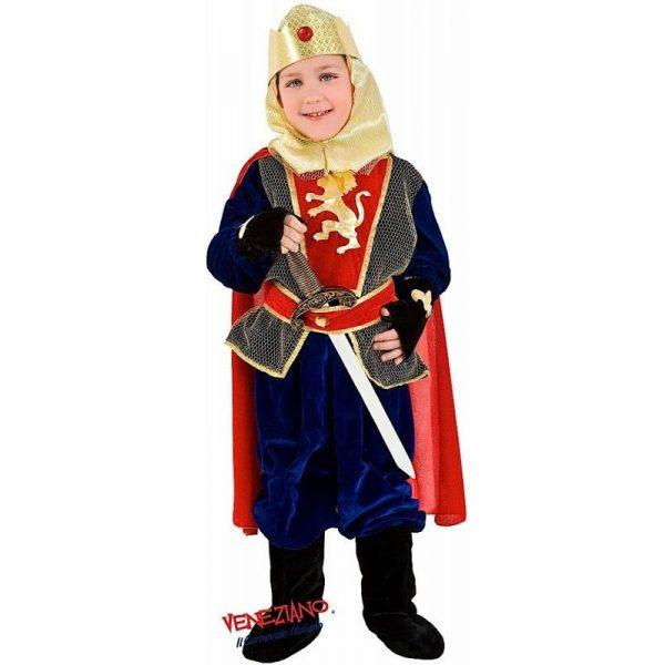 Deluxe Ritter Kostüm 6 tlg. Set mit Zubehör Kind Small 7 Jahre -0