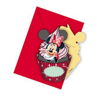 6 Minnie Maus Party Einladungen-0