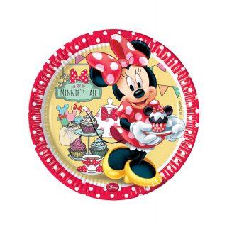 8 Minnie Maus Pappteller 23 cm-0