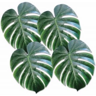 4 Tropical Deko-Palmblätter -0