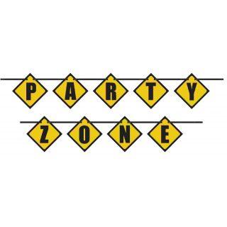 Party Zone Baustelle Buchstaben Girlande-0